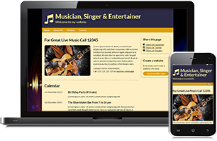 Entertainment website example